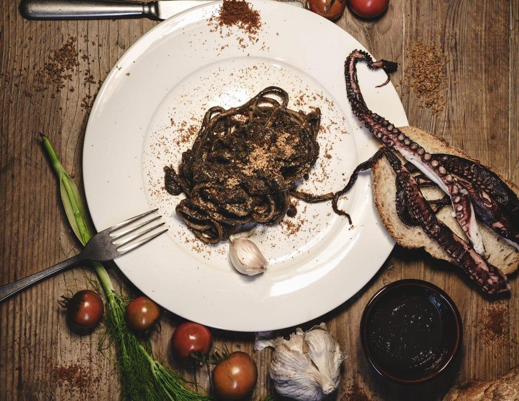 Tonnarello di pasta fresca polpo e polpo - Impasto Cagliari